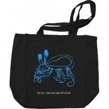Blue Legs Comic Tote Bag